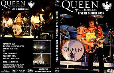 BOOTLEG - DVD: QUEEN+PAUL RODGERS LIVE IN DUBLIN 2005