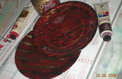 un scraplift chez charlea - et une assiette peinte en vide poche