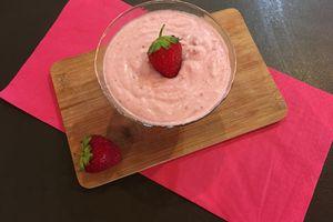 Mousse de fraises à la ricotta