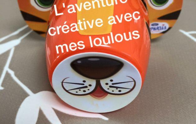 """Animaux avec pots de yaourts """"Gervais"""""""