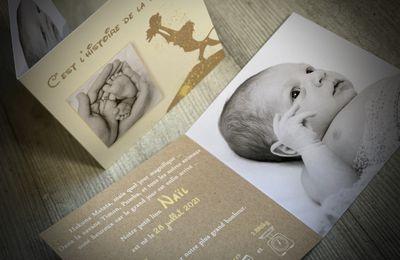 Le faire part de naissance du petit Naël, thème le roi lion (lion king, simba)