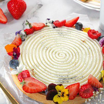 Tarte fraicheur fruits rouges et panna cotta à la vanille