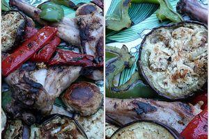lapin au cumin & légumes d'été au B.B.Q