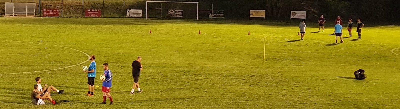 entraînement du 11 septembre et première prise de balle pour Anthony CORRECHER à l'ASRGG, exercices avec le ballon le 15 septembre 2020