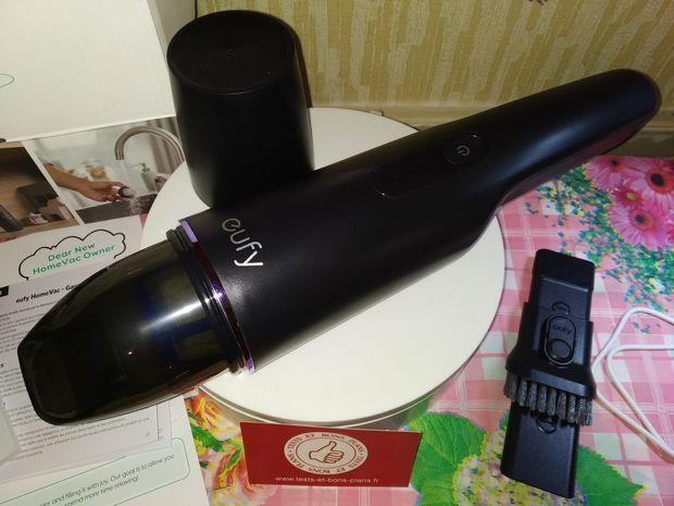 test de l'aspirateur à main portable sans fil - eufy HomeVac H11 @ Tests et Bons Plans