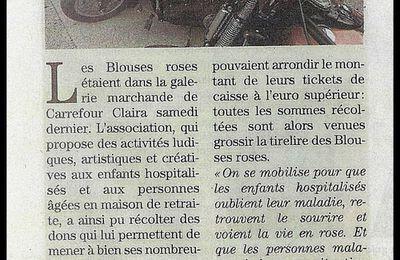 Les Knights Templar se sont mobilisés au coté des Blouses Roses Samedi 28 mai 2016 à Carrefour Claira pour une grande journée Rose.