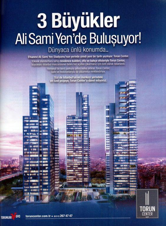 Annonces publicitaires pour le lotissement de luxe Vadistanbul et pour le Torun Center, Skylife, septembre 2014