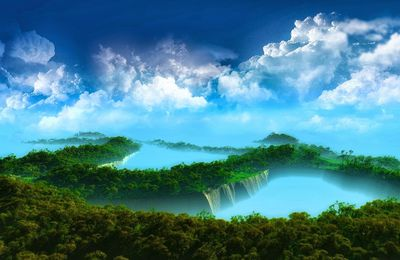 Nature - Paysage - Atoll - Ciel - Nuages - Photographie - Wallpaper - Free