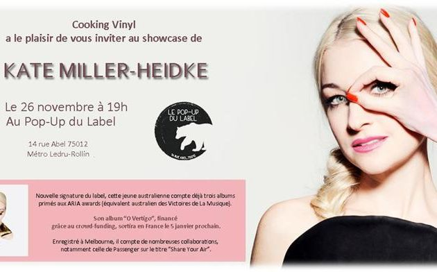 Kate Miller Heidke en showcase au Pop Up du Label / CHANSON / PARIS 26 NOVEMBRE 2014