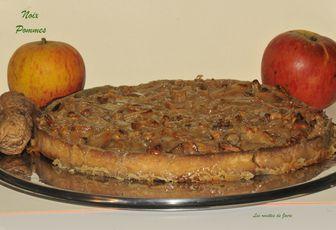 Tarte aux pommes et noix