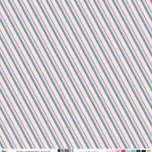 FDSF05701 : Feuille un air féérique - rayures diagonal FEE DU SCRAP