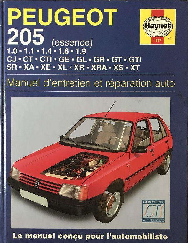 Manuel d'entretien Peugeot 205 essence Haynes 1999