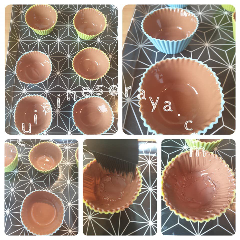 Tiramisu dans un panier au chocolat (sans oeuf)