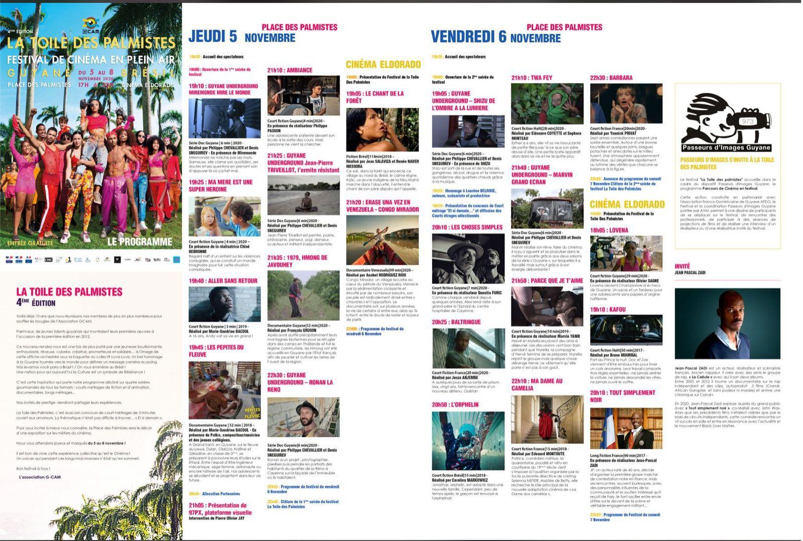 Guyane : Retrouvez le programme de la 4ème édition du festival « La toile des Palmistes » !