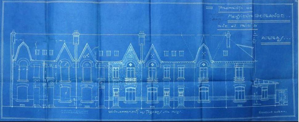 Premier plan, 36 rue du Rietz. Paul Dupuis et Albert Picy, architectes, 1923 - 36 rue du Rietz (Alexandre-Georges). Paul Dupuis et Albert Picy, architectes (?), 1925.