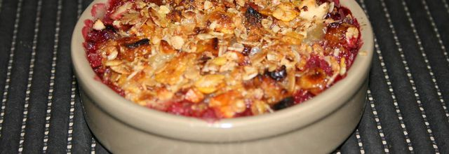 Crumble pommes fruits rouges express