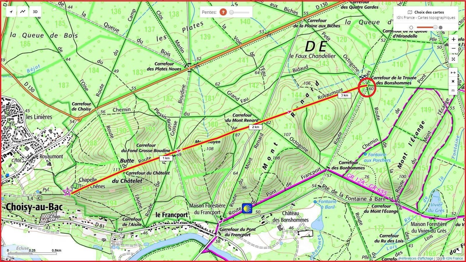 la Route de Royaumont