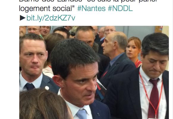 Manuel Vals à Nantes ... mais pas pour NDDL !