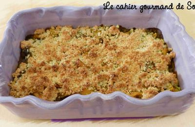 Crumble poulet, curry, coco