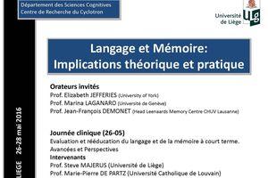 Journées de Printemps de la Société de Neuropsychologie de Langue Française 26-28 mai 2016