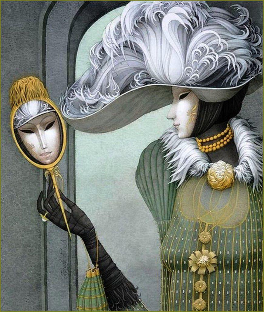 Masques - Carnaval - mardi-graspar les grands peintres-  Ivan Protsiv