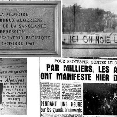 Il y a 60 ans, le sang des Algériens coulait dans Paris..,   et Macron verse des larmes de crocodile,   par Jean LEVY