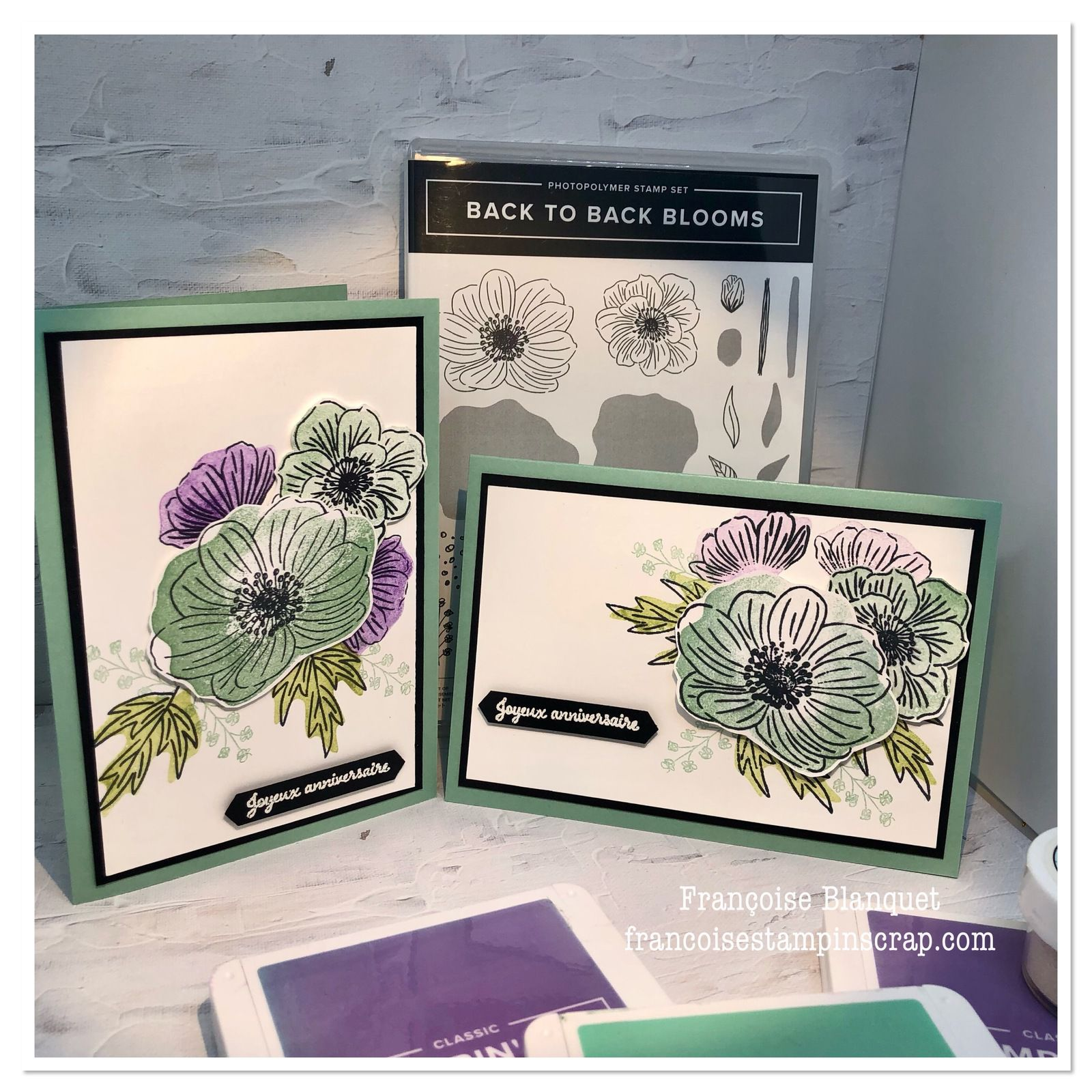 J'apprivoise doucement le set de tampons  Back to back blooms Stampin'Up!