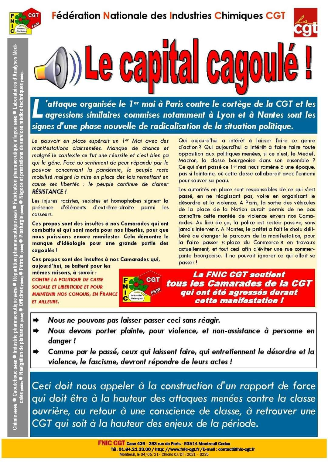 """Le capital cagoulé !"""