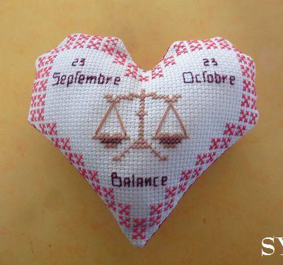 Cœur Valentin Zodiaque: la Balance, face A