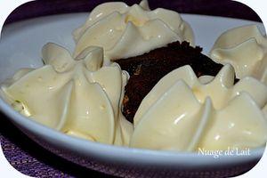 Fondant Chocolat-Nougat et Mousse à la Clémentine