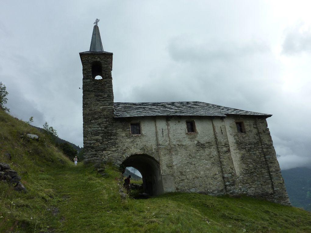 Un temps pas terrible sauf côté italien du col du Petit Saint Bernard. La Rosière est à 8km du sommet