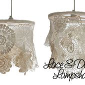HOME DZINE Craft Ideas | Make your own doily lamp shades