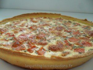 TARTE LEGERE BACON TOMATE MOZZA