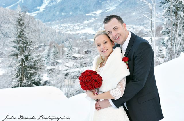 Mariage aux Granges d'en Haut | Mariage à la neige | Fleuriste mariage Chamonix