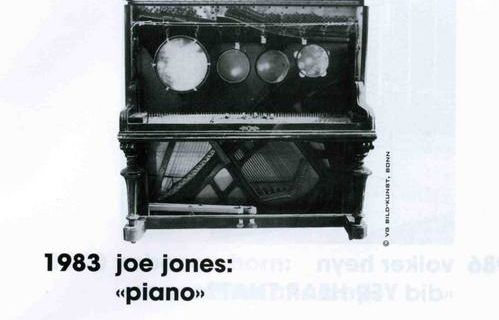 Piano @ Joe Jones. 1983