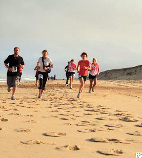 Raid Multisports organisé dans les landes par la ligue Aquitaine de Surf.