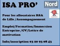 ISA PRO' accompagnement vers l'emploi allocataires du RSA Lille 0320930843