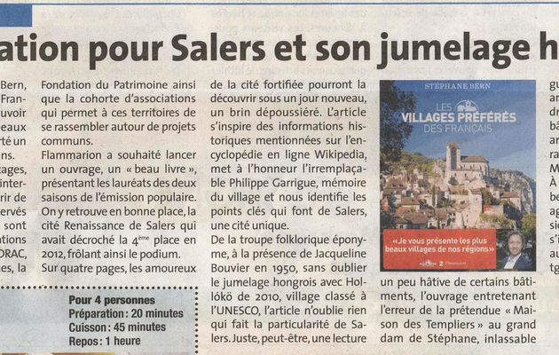 Salers in La Voix du Cantal !