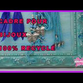 DIY. Recycler Un Vieux Cadre Pour Organiser les Bijoux// Recycled Cork Board For Jewelry