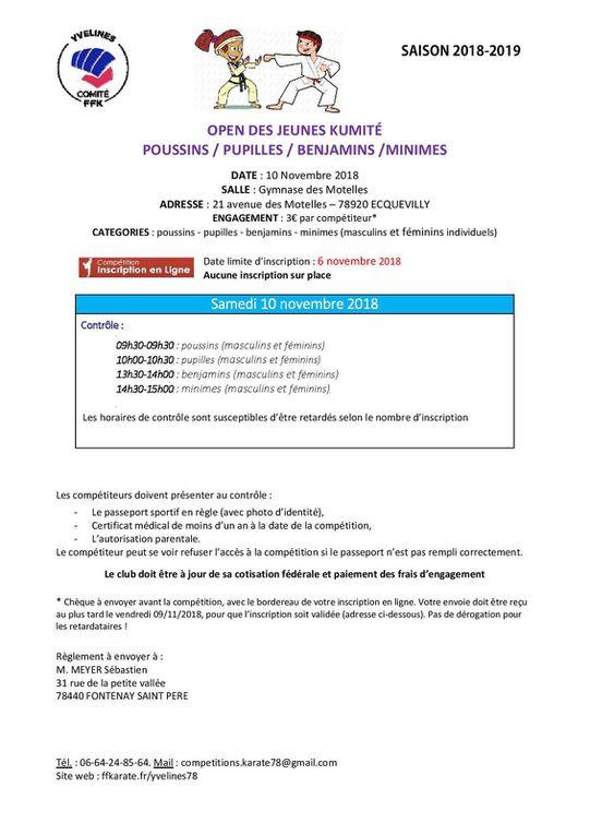 Open P/P/B/M , Coupe des Vétérans et stage de préparation physique