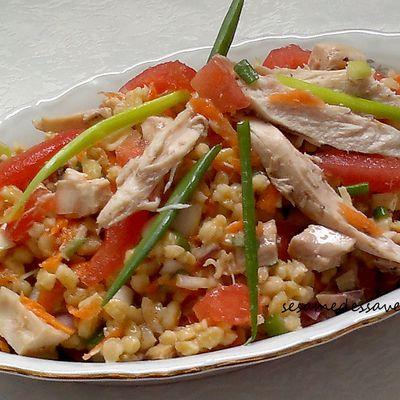 Salade de blé au poulet