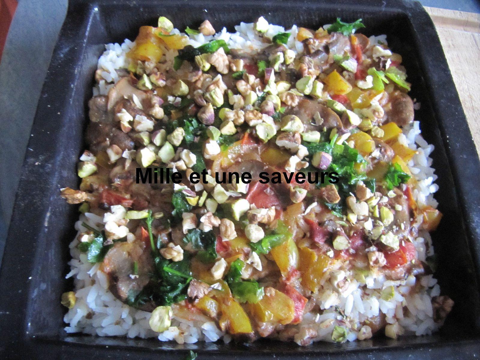 Poêlée de légumes et riz