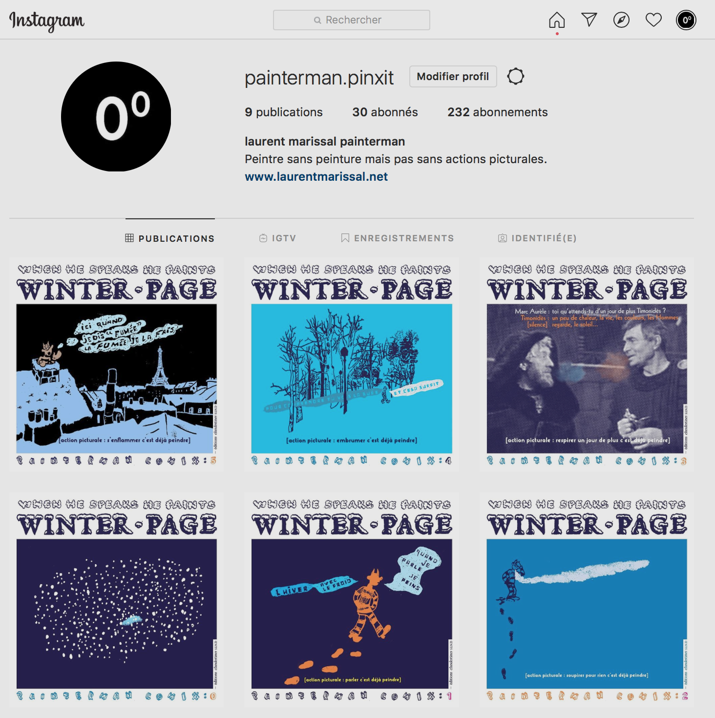 winter page — painterman comix
