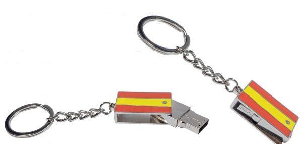 Memorias USB con bandera con capacidad de 8 Gb. Anima a la selección española