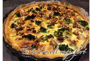 Tarte brocoli roquefort