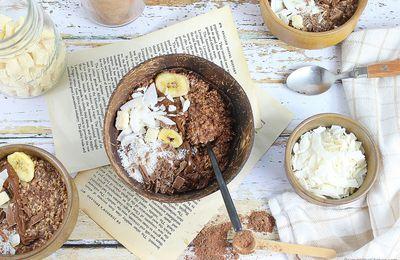 Overnight Porridge Chocolat et Coco
