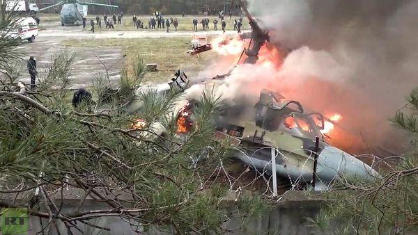 Un Ka-52K s'écrase à Moscou
