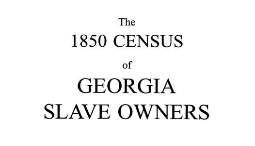 Recensement des propriétaires d'esclaves, CHATHAM, Géorgie, Usa, année 1850