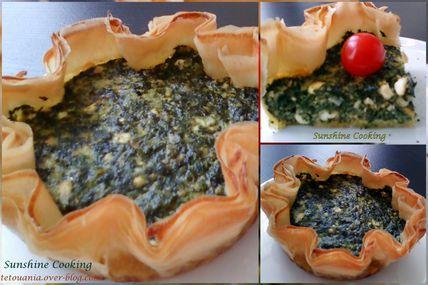 Tarte aux épinards et au fromage