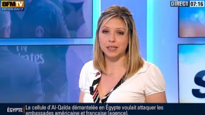 2013 05 16 - CAROLE COATSALIOU - BFM TV - PREMIERE EDITION 'SPORTS' @07H15
